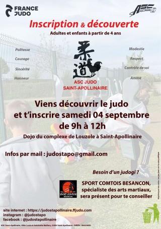 Image de l'actu 'Inscription & Découverte judo 4 septembre'