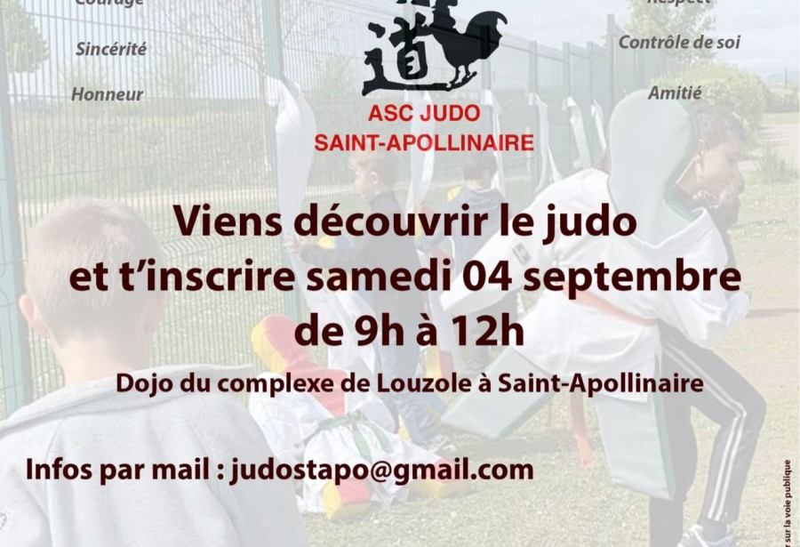 Inscription & Découverte judo 4 septembre